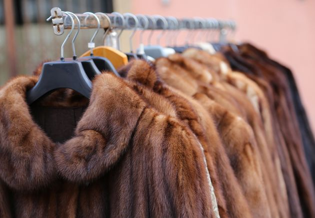 Luxury fur coat very sofly in vintage
