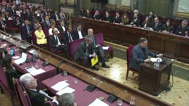Oriol Junqueras, el pasado 12 de junio, declarando en el