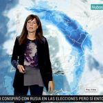 Mónica López, mujer del tiempo de TVE, muy molesta: