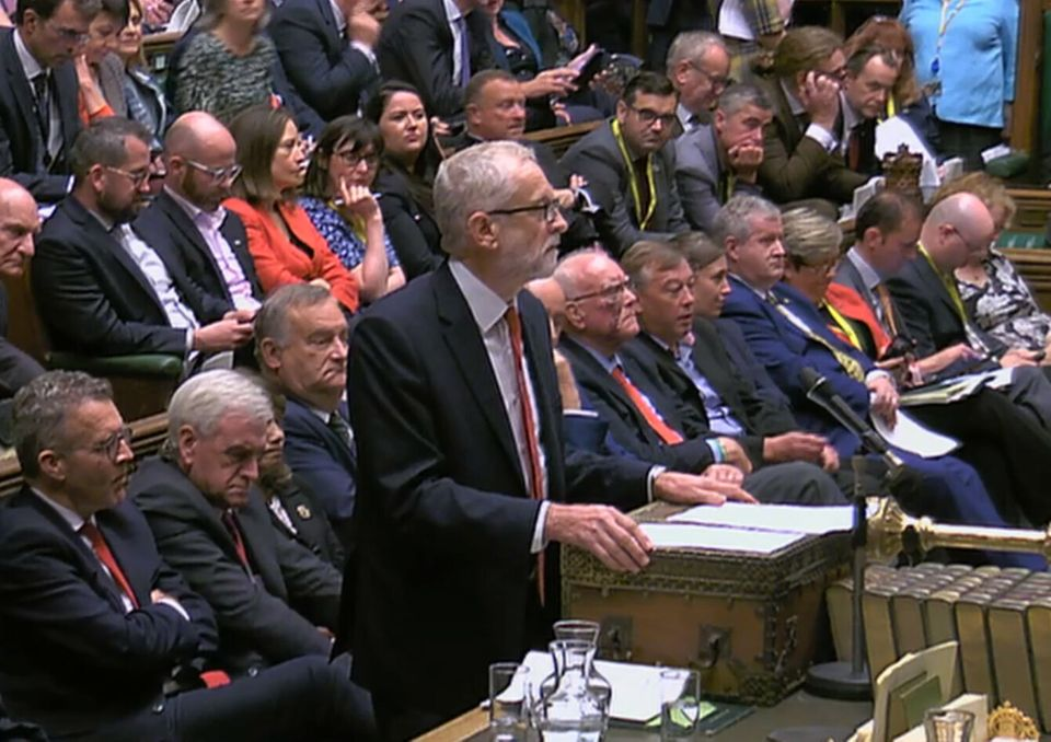 Labour Party leader Jeremy Corbyn speaks in the House of