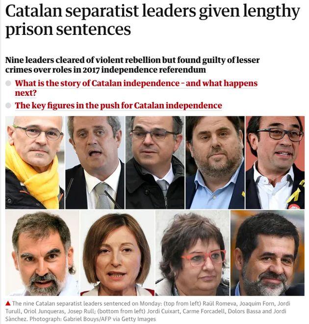 La noticia de la sentencia en 'The