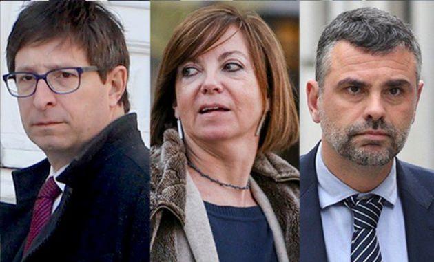 Carles Mundó; la exconsejera de Gobernación, Meritxell Borrás; y el exconsejero de Empresa y Conocimiento,...