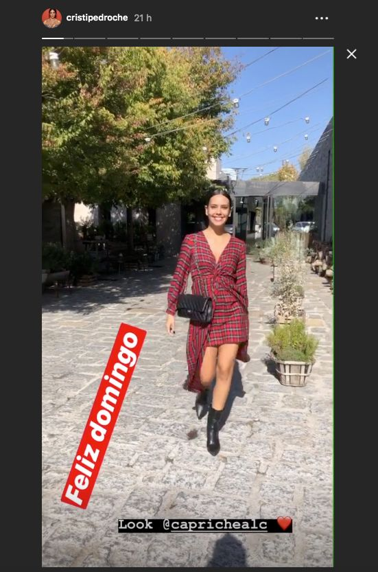 Captura de pantalla de Instagram Stories de Cristina