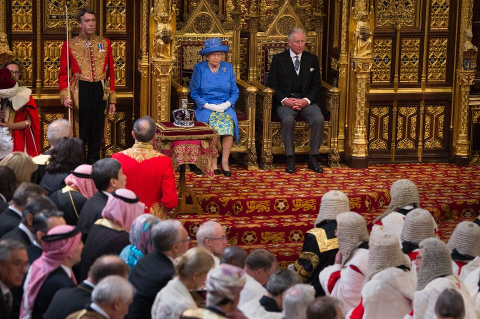 The Queen at the state opening of parliament in