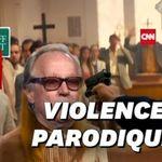 Une vidéo montrant Trump exécutant les médias dans une église