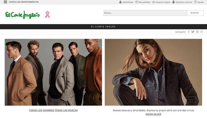 Página web de El Corte Inglés.