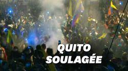 Les Équatoriens laissent éclater leur joie après l'annonce d'un