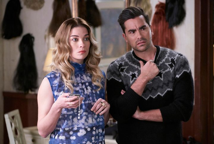 "Annie Murphy and Daniel Levy in ""Schitt's Creek"" on Netflix."