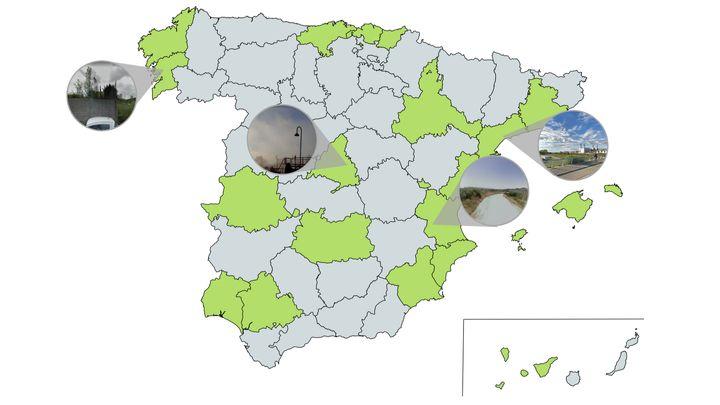 Mapa de olores de España.