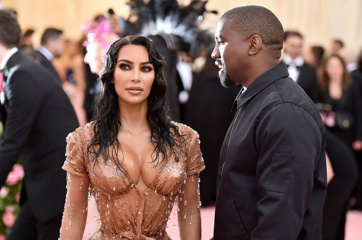 Kardashian and West attend the 2019 Met Gala Celebrating Camp: Notes on Fashion at the Metropolitan Museum of Art on May 6 in