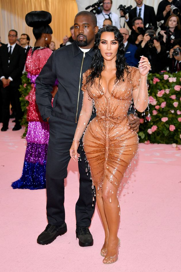 Kardashian, with West, at the 2019 Met