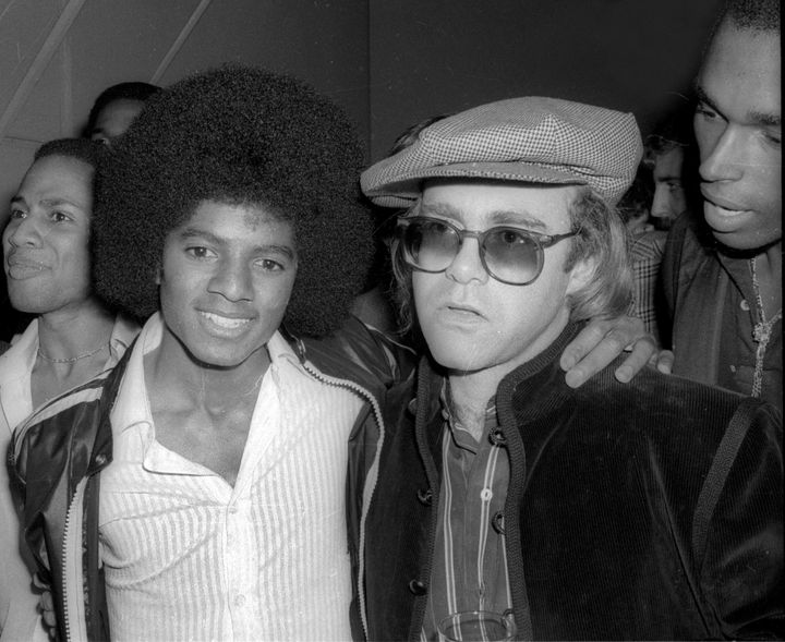 Michael Jackson and Elton John at Studio 54 in 1978.