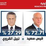 Kais Saied président de la République avec 72,71% des voix annonce