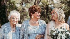 Diese Braut 4 Omas Waren Die Blumenmädchen Auf Ihrer Hochzeit