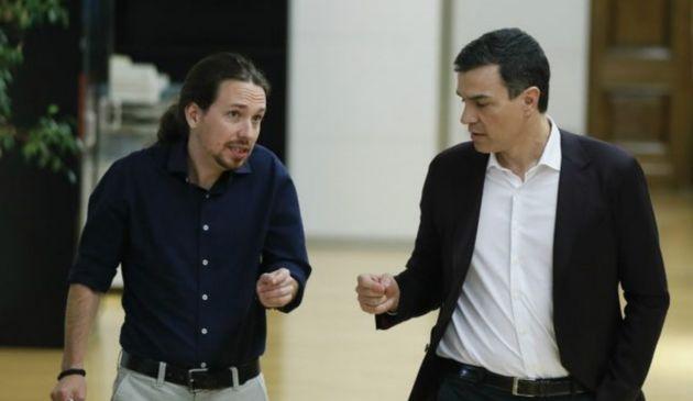 Sánchez e Iglesias, en una imagen de