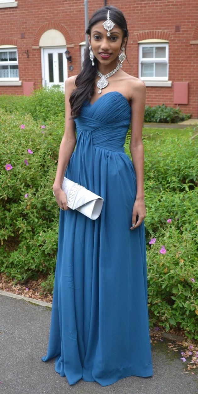 Arya at her Year 11 prom, a week before she had major surgery for Crohn's