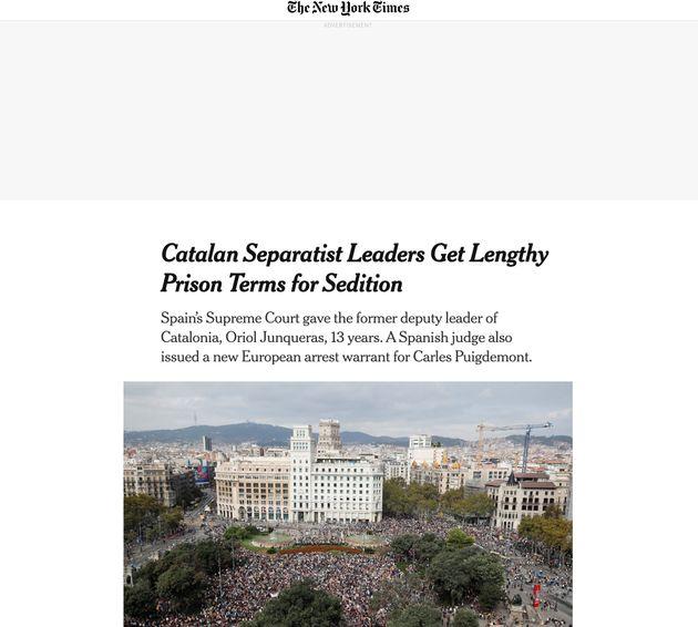 La noticia, en 'The New York