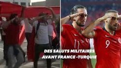 Avant France-Turquie, des supporters reproduisent le salut