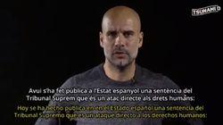 Guardiola lee un manifiesto tras la sentencia del procés: