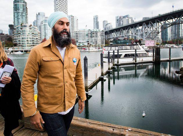 Jagmeet Singh faisait campagne à Vancouver,