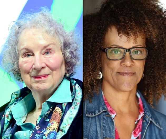 A composite showing Canadian author Margaret Atwood and British author Bernardine Evaristo, the co-winners of the 2019 Booker Prize.