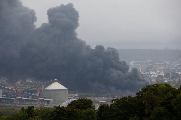 L'incendie de Lubrizol à Rouen le 26 septembre a obligé l'arrêt de la collecte de...