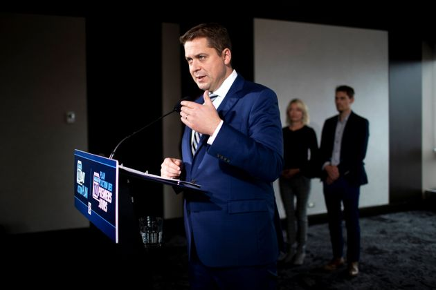 Leader of Canada's Conservatives Andrew Scheer campaigns for the upcoming election in Winnipeg, Manitoba,...