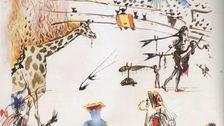 Θρασύτατο Κλέφτη Βόλτες Έξω Από Το San Francisco Art Gallery Με Salvador Dali Χαρακτική