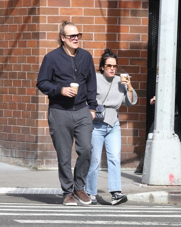 David Harbour and Lily Allen out and about, New
