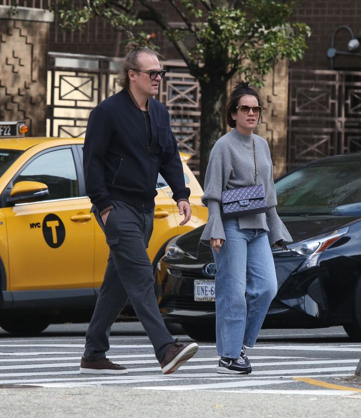 David Harbour and Lily Allen out and about, New York