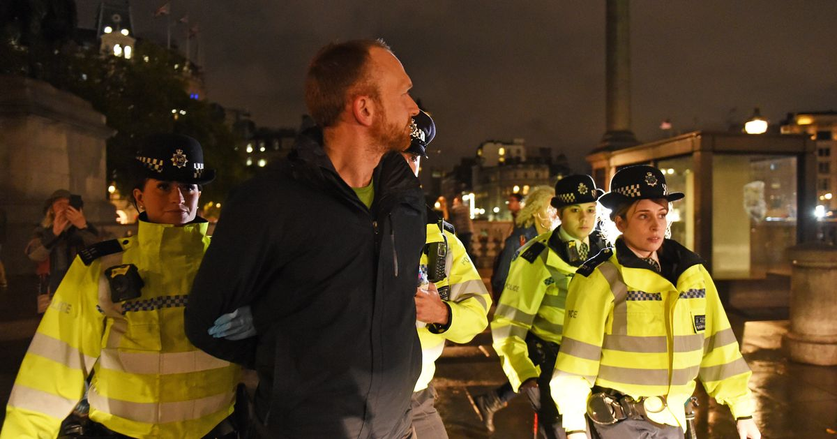 Extinction Rebellion Banned From Protesting In London As Police Clear Trafalgar Square Camp