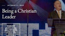 Departemen Luar Negeri Membanting Setelah Mendapat Web 'Pemimpin Kristen' Makeover