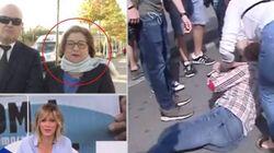 La desesperada respuesta de la mujer golpeada por un independentista por llevar una bandera de España: