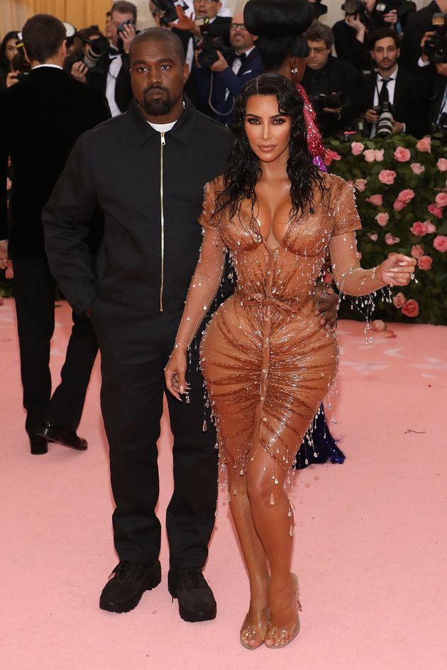 Kanye West et Kim Kardashian, lors du gala du Met 2019, au mois de
