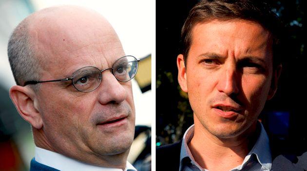 Jean-Michel Blanquer, le ministre de l'Education nationale et le député LREM Aurélien Taché n'ont pas...