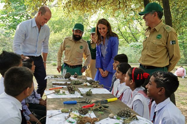 Principe William e Kate alla scuola di