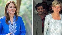 Kate in abito tradizionale pakistano come Lady D. E William: