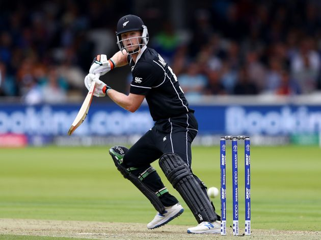Jimmy Neesham bats during the final of the ICC Cricket World Cup