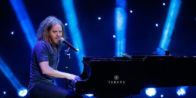 LOS ANGELES, CA - APRIL 05:  Tim Minchin performs onstage at the KROQ 106.7 FM Kevin & Bean's April Foolishness 2014 at The Shrine Auditorium on April 5, 2014 in Los Angeles, California.  (Photo by Joe Scarnici/Getty Images)Tim M