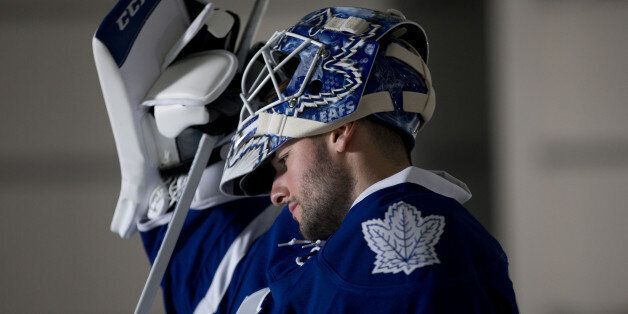 onathan Bernier prepares to take the ice for a television spot Thursday morning, Sept. 18, 2014, in Toronto. Bad news, Leafs Nation: You've got the worst pro sports franchise on the continent.