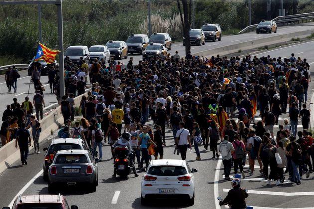 Manifestación en El