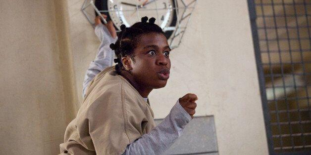 Uzo Aduba as Crazy Eyes on 'Orange Is The New Black' Season 2.