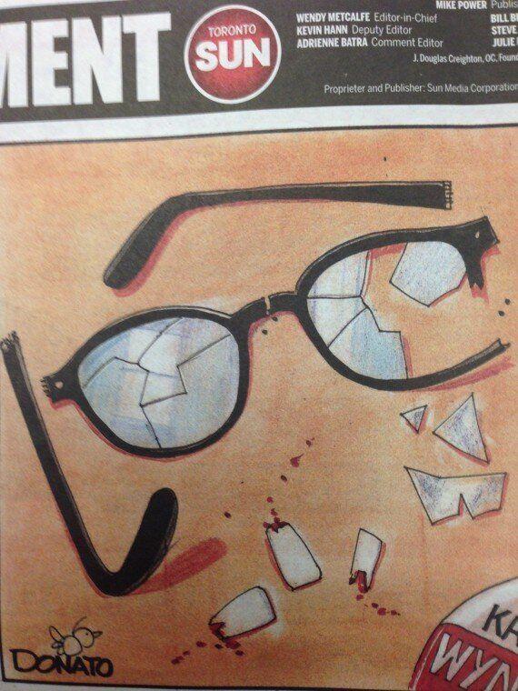 Toronto Sun's Kathleen Wynne Cartoon Sparks