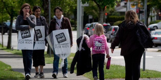 B.C. teachers walk the picket