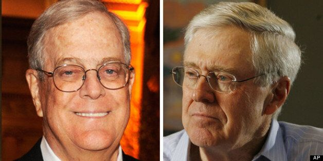 The uber right-wing billionaire Koch brothers, owners of the U.S.'s largest private company, are some...