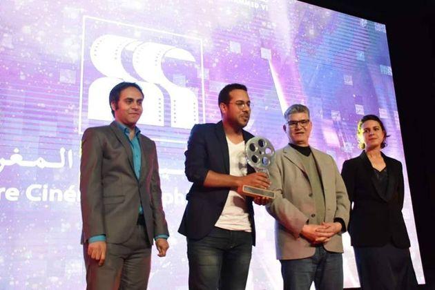Hamza Atifi, lors de la remise du prix du meilleur scénario, lors de l'édition 2019, du festival national du film de Tanger.