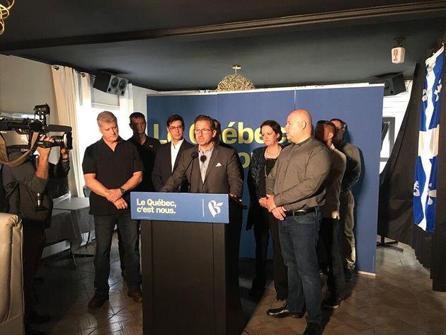 Le chef du Bloc québécois, Yves-François Blanchet (au