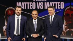 Duello tv Salvini-Renzi: