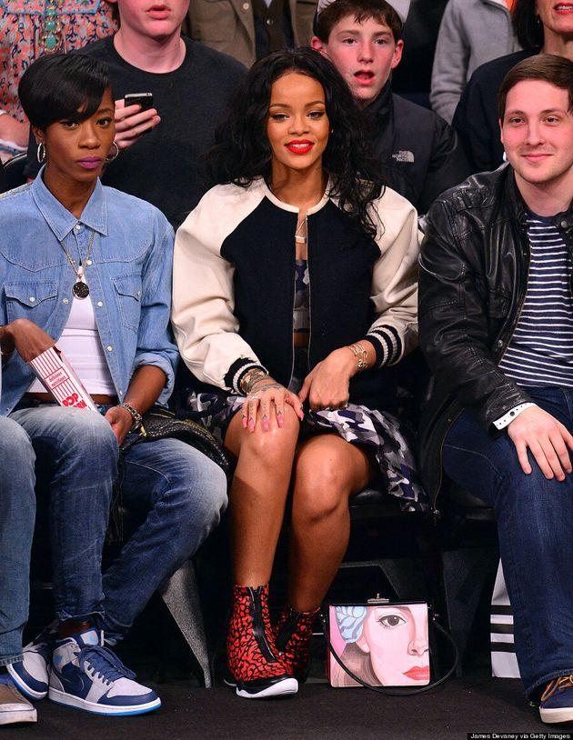 Rihanna's Raptors Vs. Nets Courtside Style Is