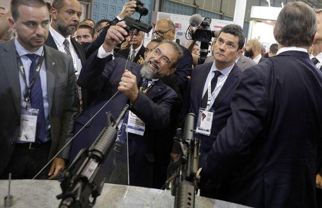 """Em agosto, o ministro Sérgio Moro afirmou que """"os homens se sentem intimidados"""", em..."""